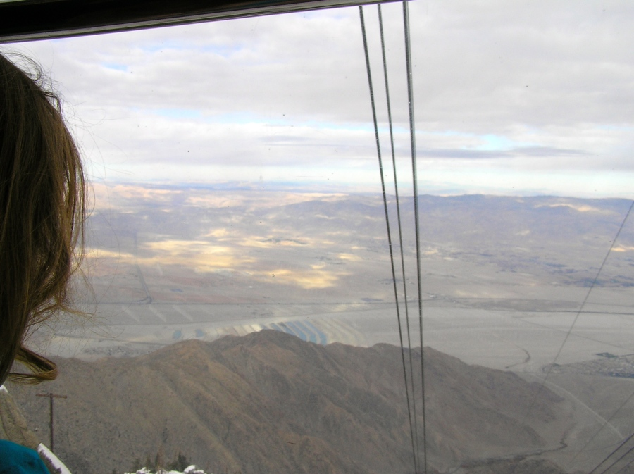 Looking out across the Coachella Valley toward Joshua Tree National Park.