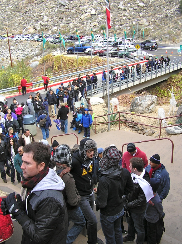 In high season, the line can be ridiculously long.  Beware.