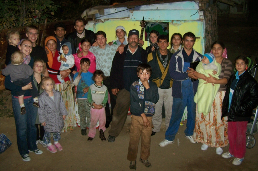 One of the Gypsy communities we meet with each week, near our home