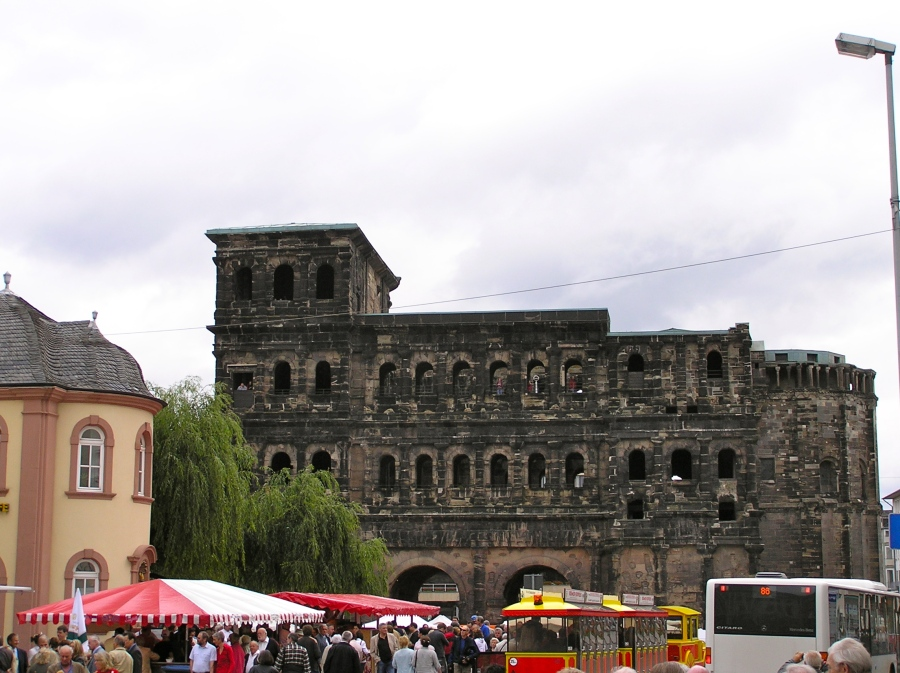 The famed Porta Nigra at the entrance to the city
