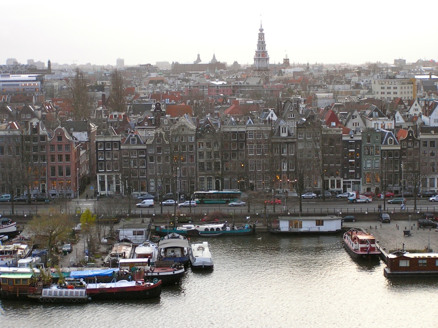 The view from the Amsterdam library.