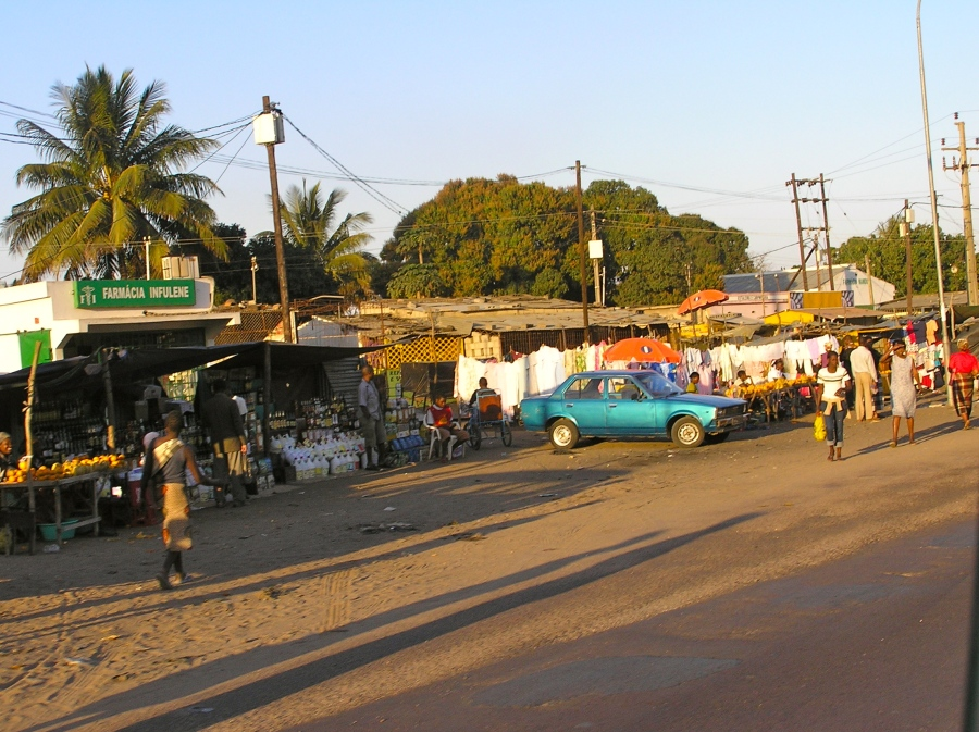 A variety of calamities being sold along the road in Maputo, Mozambique.