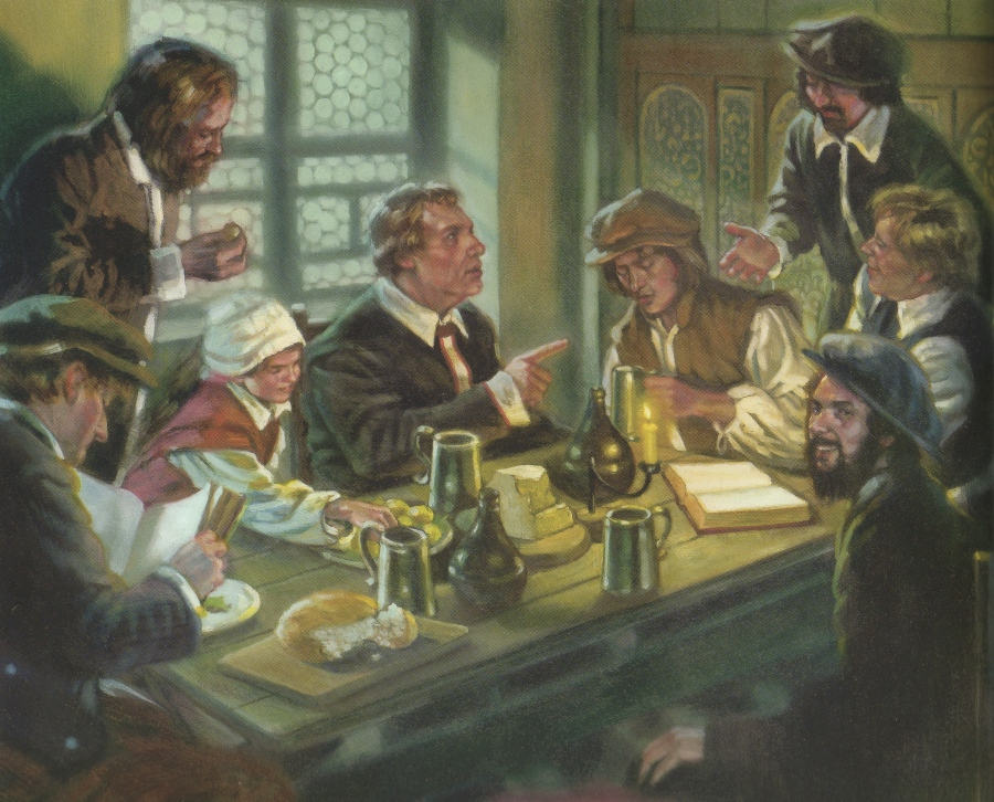 Luther in Dining Room