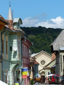 Sighișoara, Romania. Notable tourist hotspot.