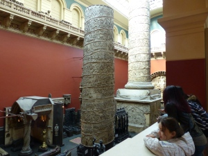Trajan's Column, in two pieces, at the V&A in London.