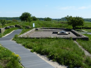 The foundations of the church, the first Christian church north of the Danube.