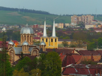 The view of Hunedoara from the castle.
