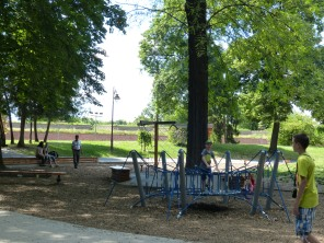 Playground #2 of the day during an afternoon in Kalemegdan Park.