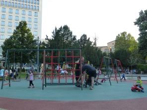 Park #3 of the day, after dinner. This place was packed with parents and kids enjoying the evening cool.