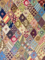 Detail of a quilt sewed by the sisters.