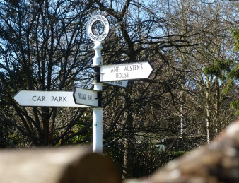 Signpost in Chawton.