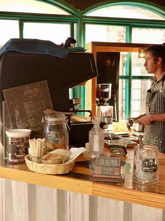 Cafe Asa Nisi Masa, Ensenada, Mexico. They roast and serve only Mexican coffee. We'll be back. . .